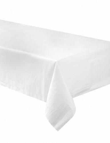 Nappe blanche en papier doublée plastique 137 x 274 cm