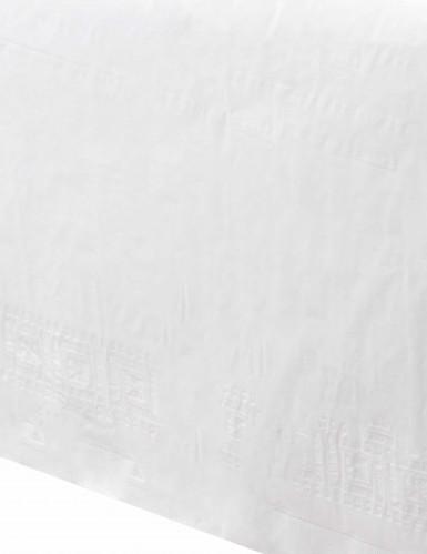 Nappe blanche en plastique doublée 137 x 274 cm -1