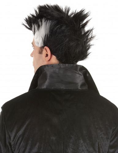Perruque vampire noire et blanche homme-1