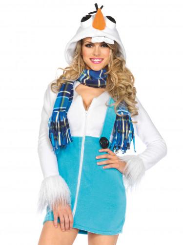 Déguisement bonhomme de neige femme-1