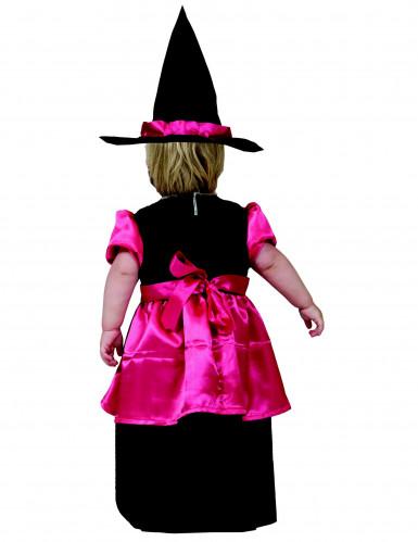 Déguisement petite sorcière rose fille Halloween-1