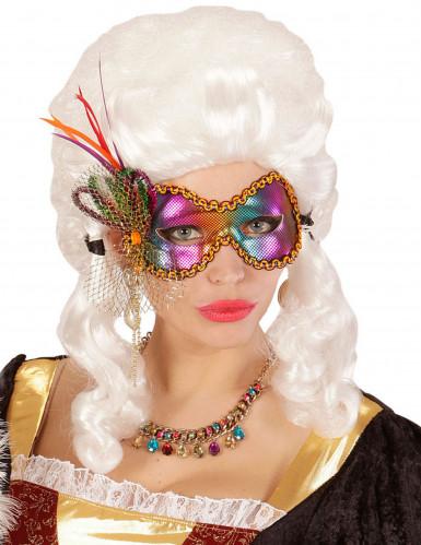 Loup papillon multicolore femme