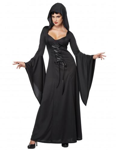 Déguisement sorcière noire pour femme Halloween