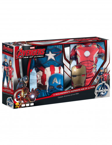 Pack déguisements enfant Iron Man + Captain America - Avengers 2™ Coffret-2