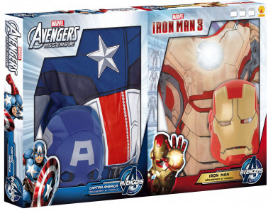 Pack déguisements enfant Captain America™ & Iron Man™ - Avengers™ Coffret-1