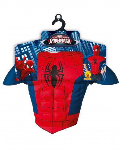Plastron et cagoule enfant Spiderman™ Ultimate-1