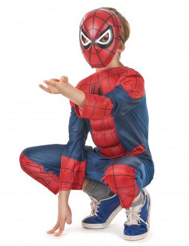 Déguisement luxe 3D EVA Spiderman™ Ultimate enfant   Coffret-1