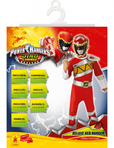 Déguisement luxe Power Rangers™ Dino Charge rouge enfant-1