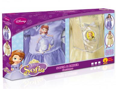 Pack déguisements classiques fille Princesse Sofia et Ambre™ Coffret-1