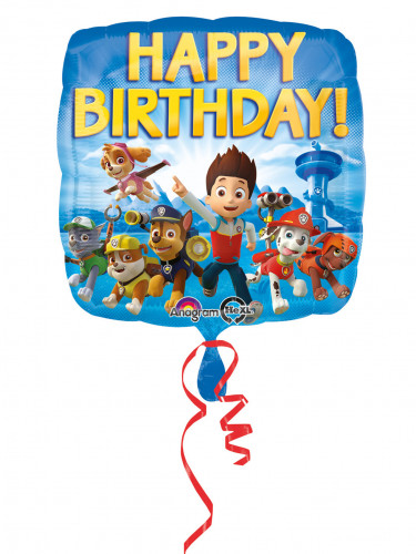 Ballon aluminium Happy Birthday Pat'Patrouille™ 43 cm