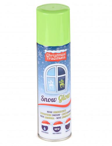 Bombe de neige phosphorescente 150 ml avec pochoirs de Noël