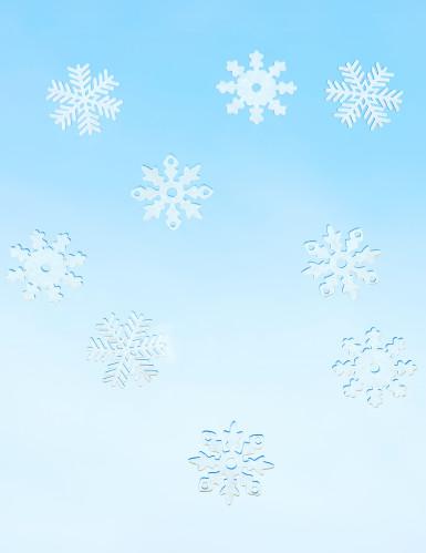 9 Flocons des neiges en feutrine Noël-1