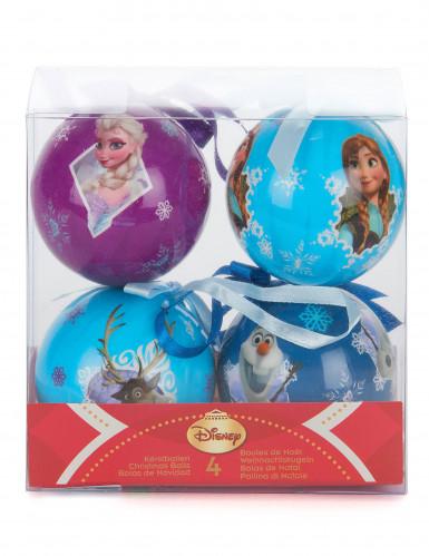 4 Boules La reine des neiges™ 7,5 cm Noël-1