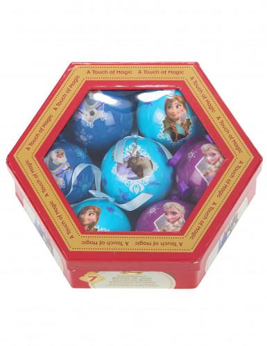7 Boules La reine des neige™ 7,5 cm Noël-1