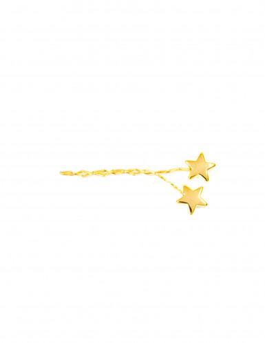 4 Décorations étoiles dorées pour serviettes