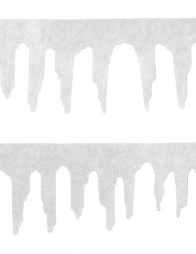 2 Guirlandes neige 120 cm Noël