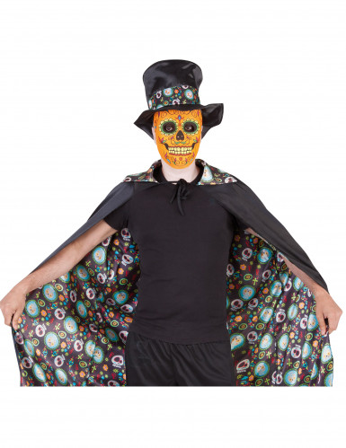Cape réversible Dia De Los Muertos Halloween Adulte