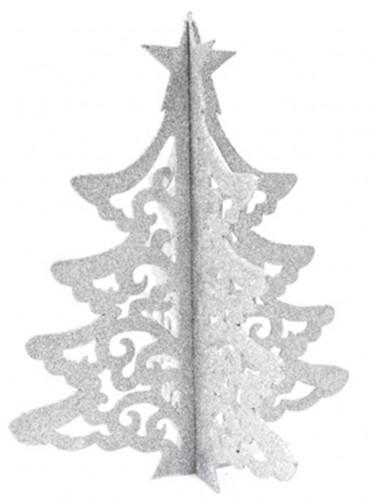 Décoration arbre de Noël argenté 30 cm