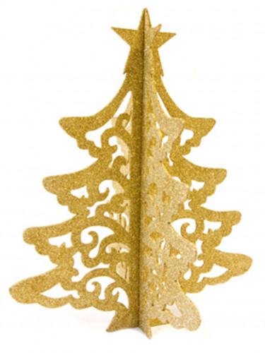 Décoration arbre de Noël doré 30 cm