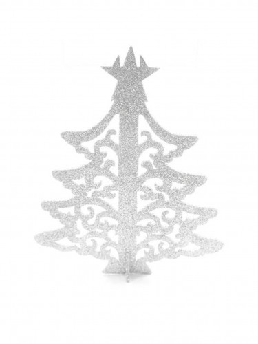 Arbre de Noël marque-place blanc