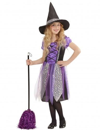 Déguisement sorcière violette étoilée fille Halloween