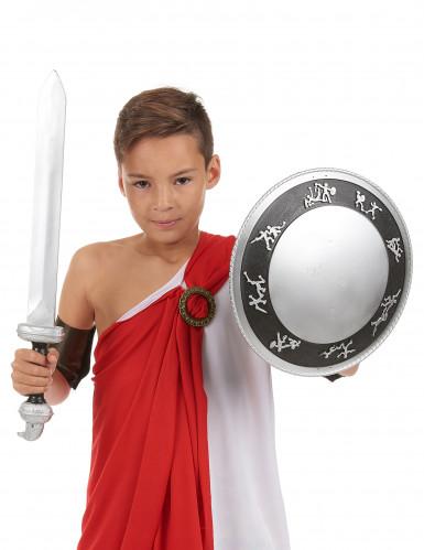 Kit Gladiateur épée et bouclier Enfant en plastique-1