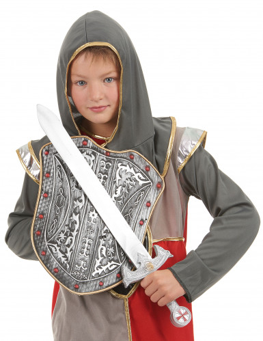Kit bouclier et épée chevalier croisé en plastique pour Enfant-1