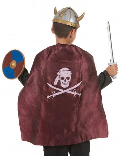 Kit Viking en plastique- épée, bouclier et cape Enfant-1
