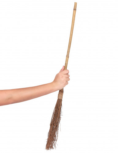 Balai de sorcière en bois 88 cm-1
