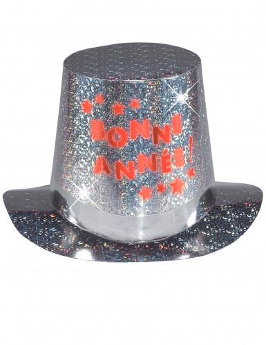 Chapeau haut de forme Bonne année lumineux adulte