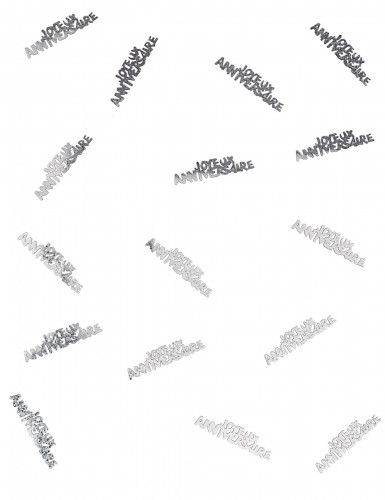 Confettis Joyeux anniversaire argentés-1