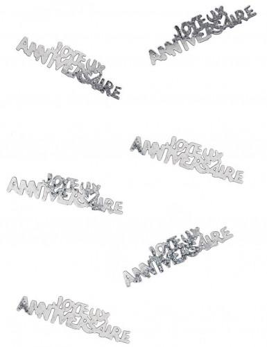 Confettis Joyeux anniversaire argentés