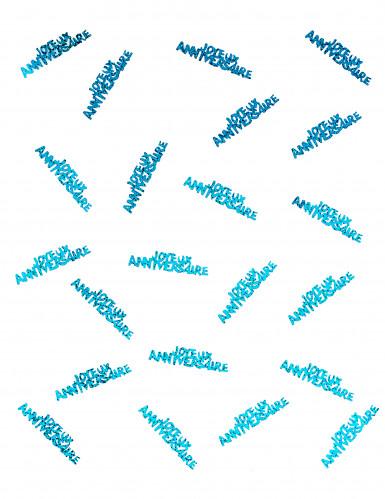 Confettis Joyeux anniversaire bleu-1