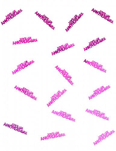 Confettis Joyeux anniversaire fuchsia-1