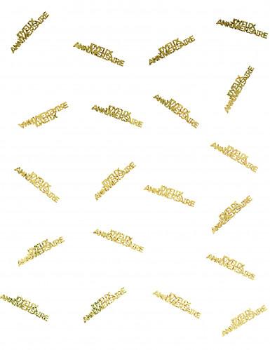 Confettis Joyeux anniversaire or-1