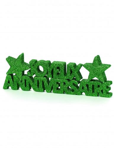Décoration de table Joyeux Anniversaire vert