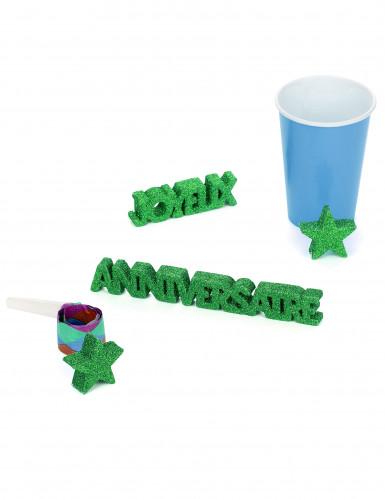 Décoration de table Joyeux Anniversaire vert-1