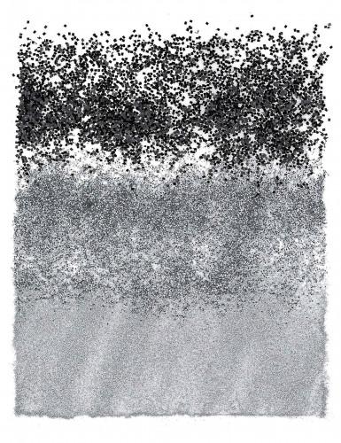 Trio de paillettes noires et argentées-1