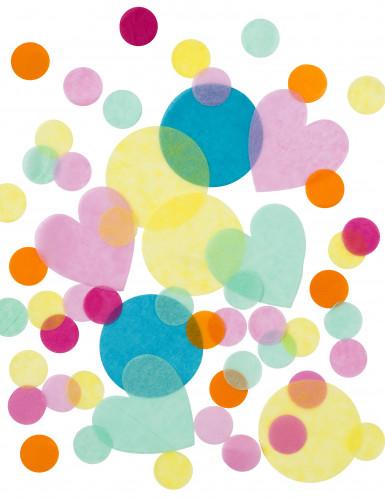 Confettis papier de soie pastel-2