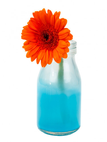 Petite bouteille Tie and Dye bleu 12 cm-2