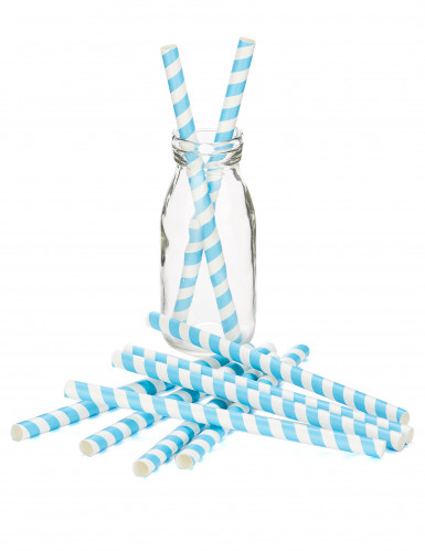 10 Pailles à milkshake bleues-1
