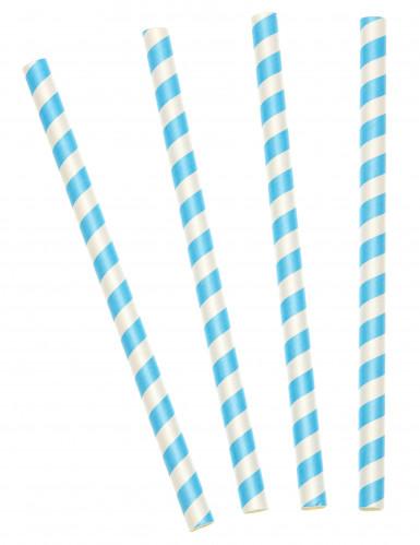 10 Pailles à milkshake bleues