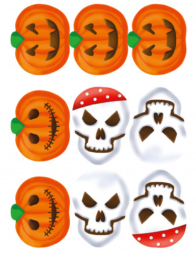 9 Décorations en sucre pour biscuits Halloween-1