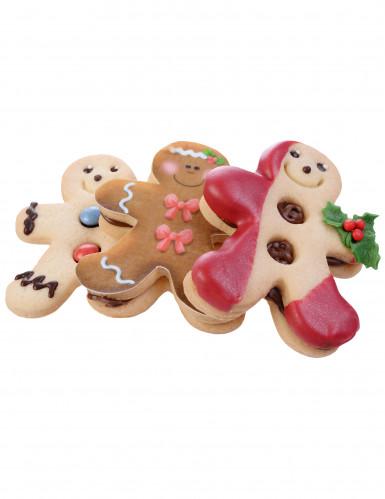 Emporte-pièce double-face bonhomme pain d'épice Noël-1