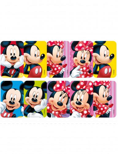 10 Décorations en sucre pour biscuits Minnie et Mickey™-1
