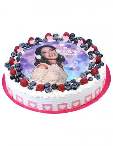 Disque en sucre Violetta™ 21 cm-1