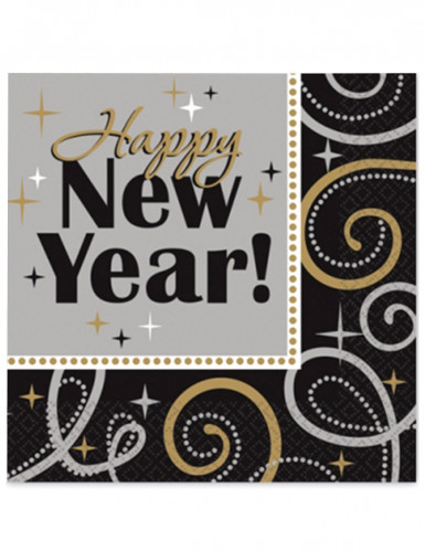 16 Serviettes en papier Happy New Year