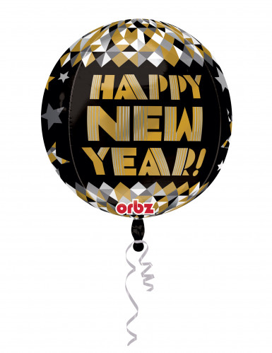Ballon en aluminium doré Happy New Year