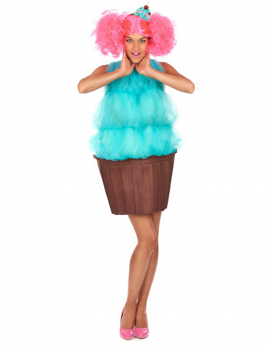 Déguisement cupcake turquoise femme