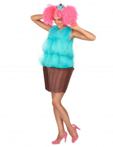 Déguisement cupcake turquoise femme-1